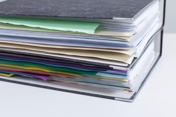 Folders On Table