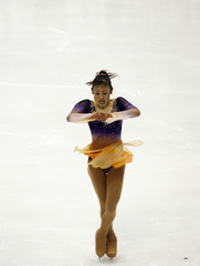 Japan's Suguri competes in the women's Figure Skating event at the Asian Winter Games in Changchun