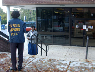 SILVER SPRING MARYLAND POST OFFICE CLOSED DUE TO SUSPECTED ANTHRAX.