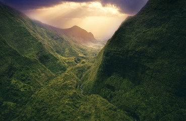 Aerial perspective of Kauai