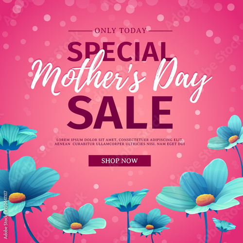 """Mothers Day Storewide Sale Template: """"Template Design Discount Banner For Happy Mother's Day"""