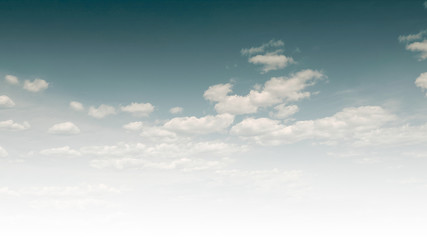 Cloudy Sky Background with Blank Copy Space for Text or Advertising