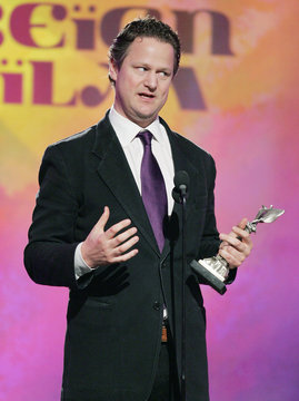 """German director Florian Henckel von Donnersmarck accepts the award for Best Foreign Film for his film """"The Lives of Others"""" at Film Independent's Spirit Awards in Santa Monica"""
