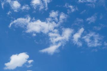 Beautiful white cloud on the blue sky