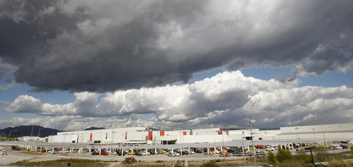 Volkswagen's Spanish car maker Seat factory is pictured in Martorell