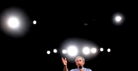 President Bush speaks at a campaign event in Ohio.