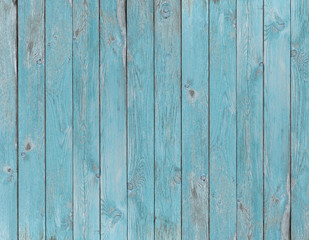 blue old wood planks texture or background