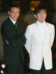SINGER-ACTOR TONY LEUNG AND ACTOR ZHANG CHEN ATTEND 22ND HONG KONG FILMAWARDS.