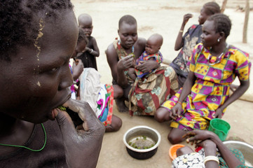 Starving women and children resort to eating leaves in south Sudan.