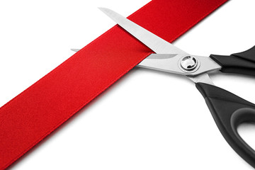 Red Ribbon Cutting Ceremony