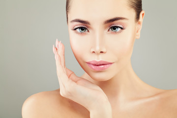 Beautiful Spa Model Woman with Healthy Skin. Perfect Face