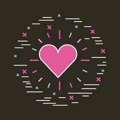 cartoon heart girly icon image vector illustration design
