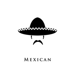 Mexican hat sombrero and mustache.