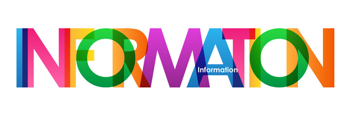 INFORMATION Colourful Vector Letters Icon