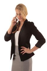 Frau bewirbt sich telefonisch