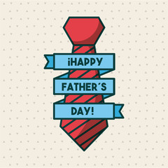 happy fathers day related icons and lettering image vector illustration design