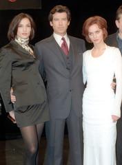 New James Bond Brosnan poses with Jenssen and Scorupco