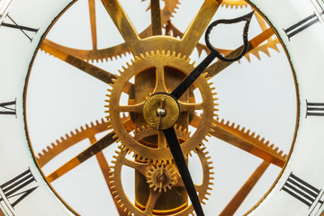 Ancient clock with gears