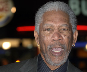 """U.S actor Morgan Freeman poses at the premiere of """"The Bucket List """" in London"""
