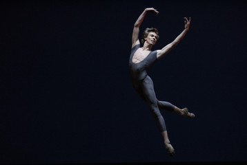Artistic director and principal dancer Malakhov of Berlin's Staatsballett performs Maurice Bejart's 'Serait-ce la mort' during a dress rehearsal in Berlin