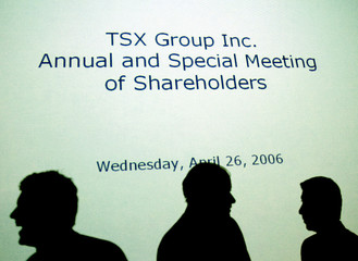TSX Group Inc. Chair Wayne Fox is silhouetted in Toronto