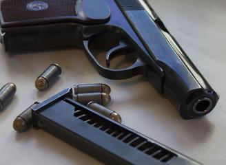 russian pistol black gun
