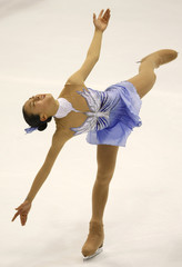 Japan's Mao Asada performs during her short program of the International Counter Match figure skating competition in Yokohama, Japan