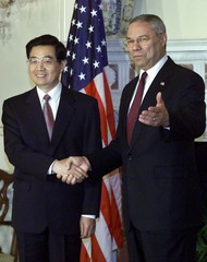 SECRETARY OF STATE POWELL MEETS CHINESE VICE PRESIDENT HU.