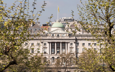 Somerset House, London - Neoclassical landmark on the banks of the River Thames.