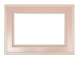 Modern pastel color pink and white picture frame
