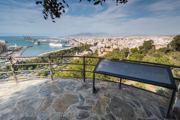 Vantage view point in Malaga, Spain