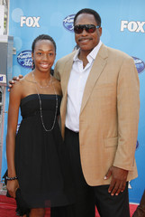 Former New York Yankees baseball player Dave Winfield and daughter Ariel at the finale of the American Idol television show in Los Angeles
