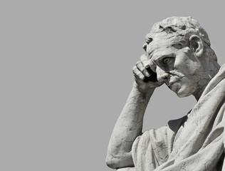 Thinking man statue (Black and White)