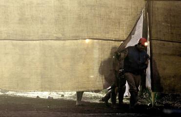 Miner leaves Pasta de Conchos coal mine near San Juan de Sabinas