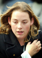 SOHAM MURDER TRIAL WITNESS LUCY TUCK LEAVES LONDON'S OLD BAILEY.