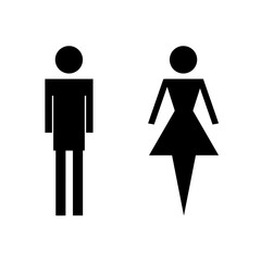 wc toilet icons - man and woman vector