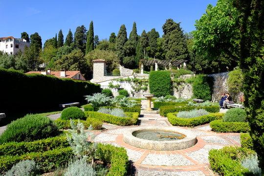 Garden of Cimiez Monastery, Nice France