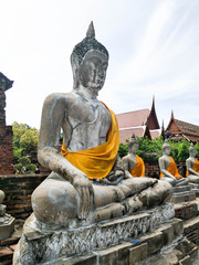 Ancient Buddha At Wat Yai Chai Mongkol
