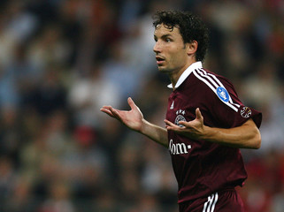 Bayern Munich's Marc van Bommel reacts during their Champions League Group B soccer match against Spartak Moscow in Munich