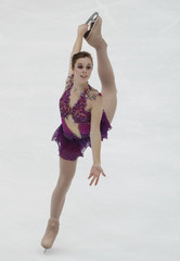 Ashley Wagner of the U.S. performs during Women's Free Program competition at the ISU Grand Prix of Figure Skating NHK Trophy in Nagan