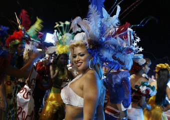 Dancers perform during the opening ceremony of the Copa America Venezuela 2007 soccer tournament in San Cristobal