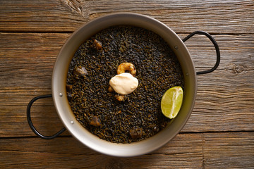 Black rice Paella recipe for two from Spain
