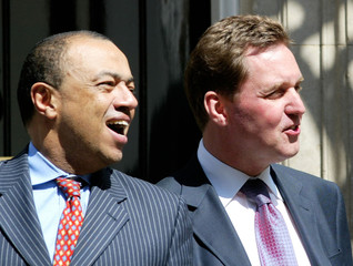 BRITAIN'S HEALTH SECRETARY MILBURN AND CHIEF SECRETARY TO THE TREASURYBOATENG LEAVE DOWNING STREET IN LONDON.