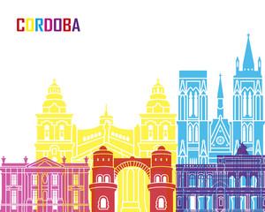 Fototapete - Cordoba AR skyline pop