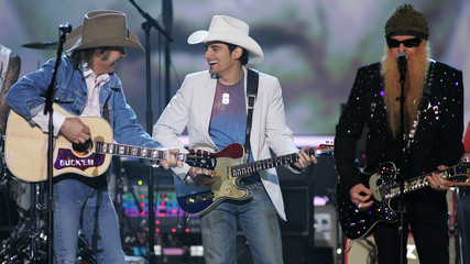 Musicans pay tribute to Buck Owens during 41st annual Academy of Country Music Awards show in Las Vegas