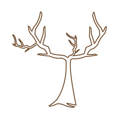tree withered branching free spirit rustic vector illustration