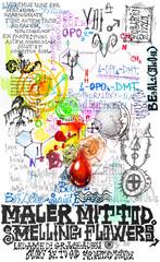 Carte,collage,disegni e manoscritti esoterici,alchemici e misteriosi