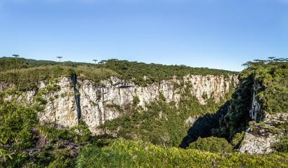 Panoramic view of Itaimbezinho Canyon at Aparados da Serra National Park - Cambara do Sul, Rio Grande do Sul, Brazil
