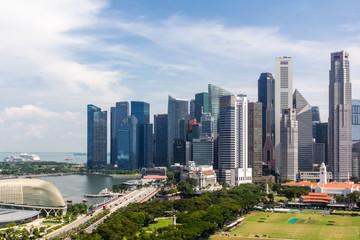 Poster de jardin Chicago Singapore Downtownand skyline