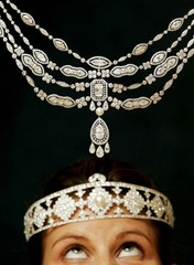 DORIS DUKE JEWELLERY COLLECTION ON DISPLAY AT CHRISTIE'S IN LONDON.